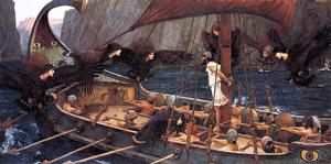 Ulysse et les sirènes du peintre JW Waterhouse