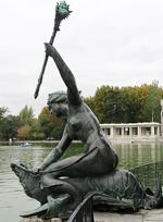 Une sirène dans les Jardin du Retiro à Madrid