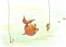 Le petit Poisson et le Pêcheur de J. de la Fontaine