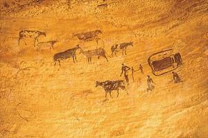 fresque des chasseurs-cueilleurs