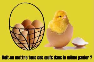 mettre tous ses œufs dans le même panier