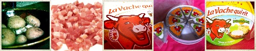 Vache qui rit® au Leerdammer - champignons et lardons