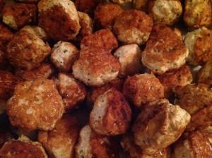 Les boulettes sont cuites